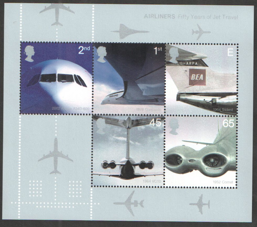 MS2289 2002 Jet Airliners Royal Mail Miniature Sheet