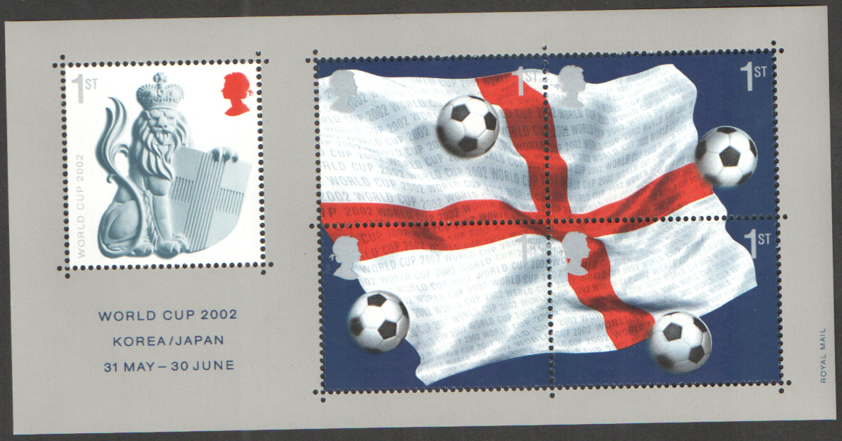 MS2292 2002 World Cup Royal Mail Miniature Sheet