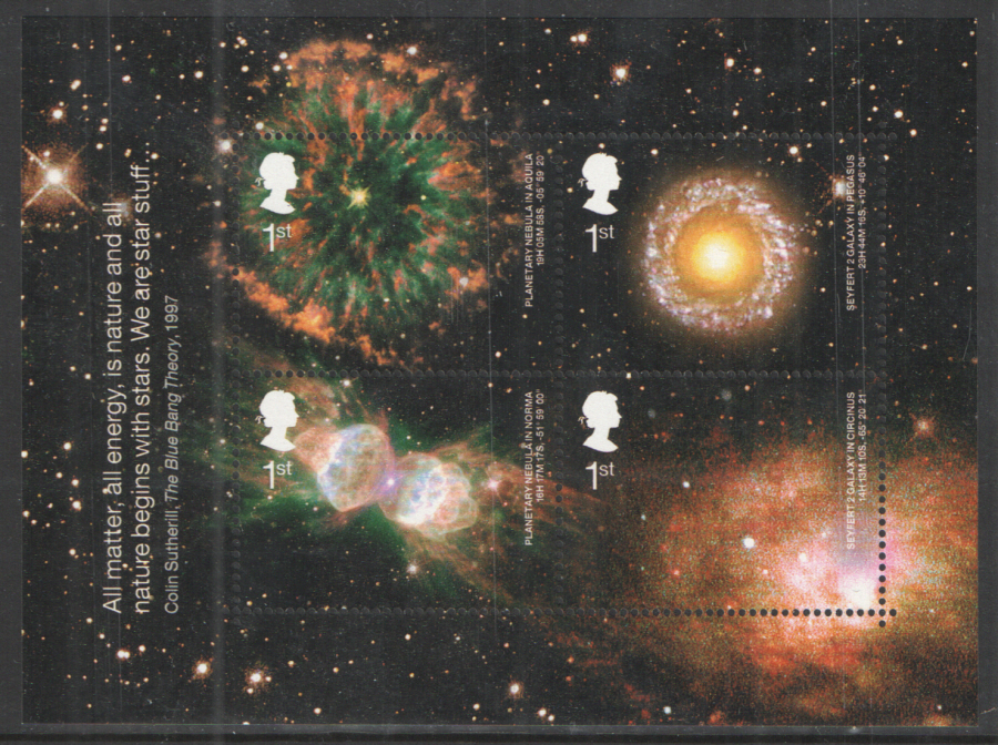 MS2315 2002 Astronomy Royal Mail Miniature Sheet