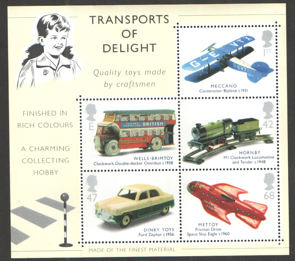 MS2402 2003 Classic Transport Toys Royal Mail Miniature Sheet
