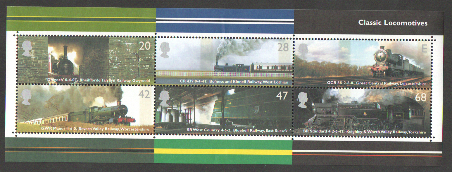 MS2423 2004 Classic Locomotives Royal Mail Miniature Sheet