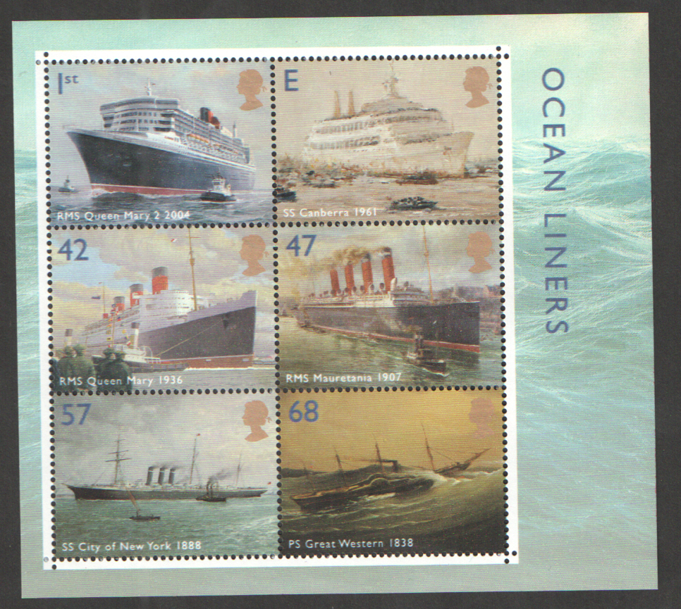 MS2454 2004 Ocean Liners Royal Mail Miniature Sheet