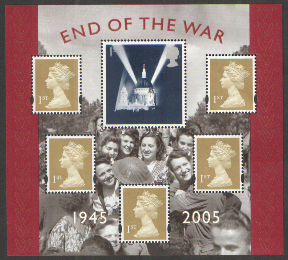 MS2547 2005 End of the War Royal Mail Miniature Sheet