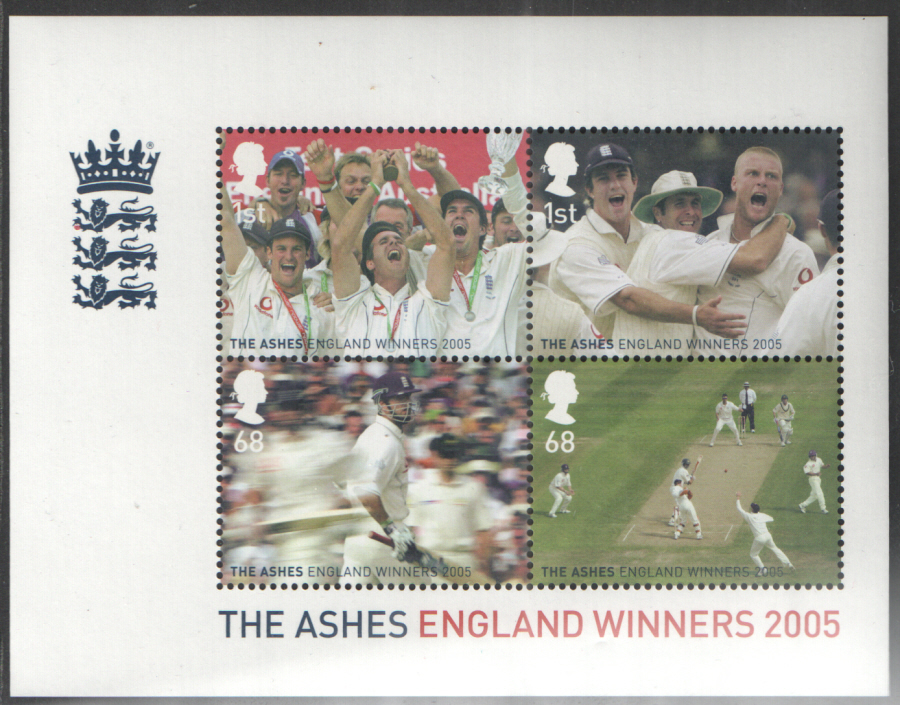 MS2573 2005 England Ashes Victory Royal Mail Miniature Sheet