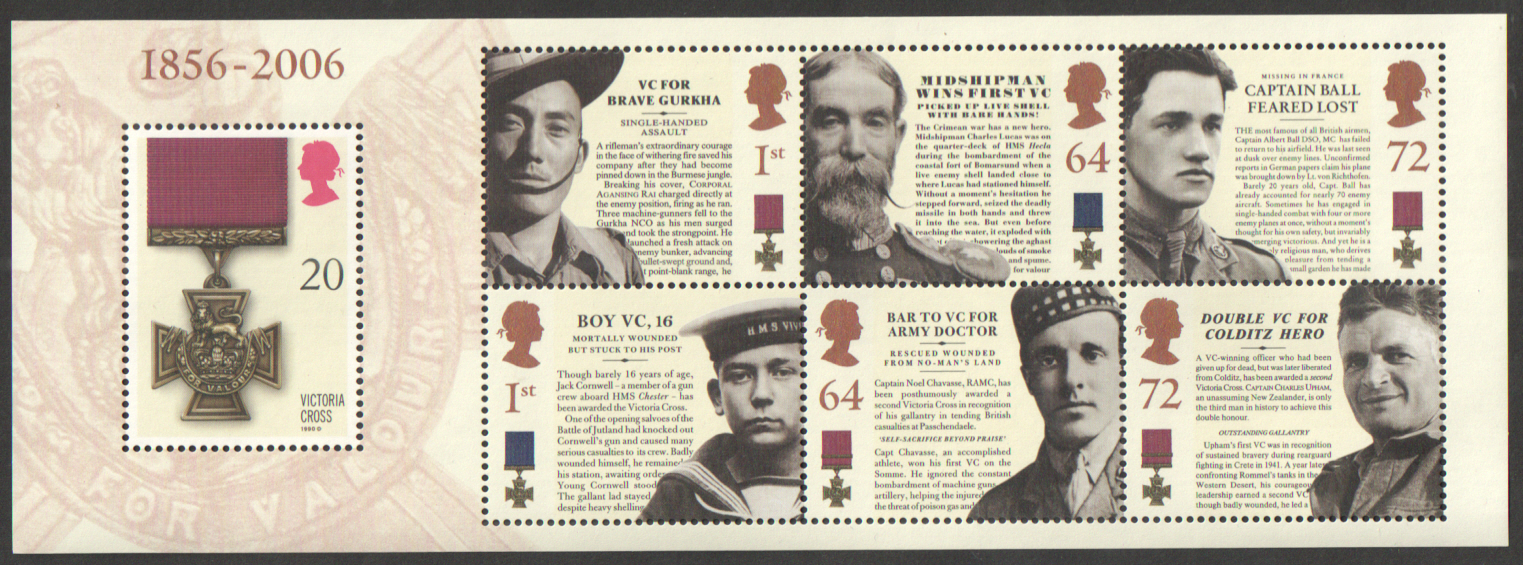 MS2665 2006 Victoria Cross Royal Mail Miniature Sheet