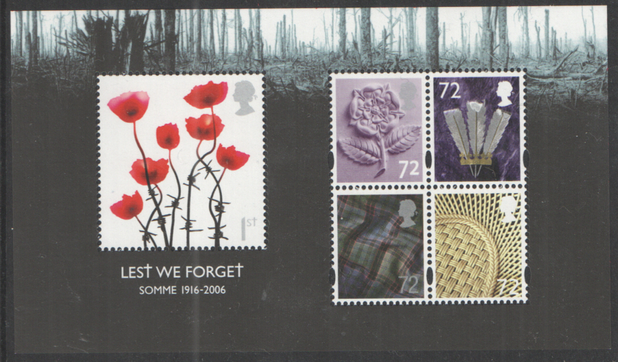 MS2685 2006 Lest We Forget (1st Issue) Royal Mail Miniature Sheet