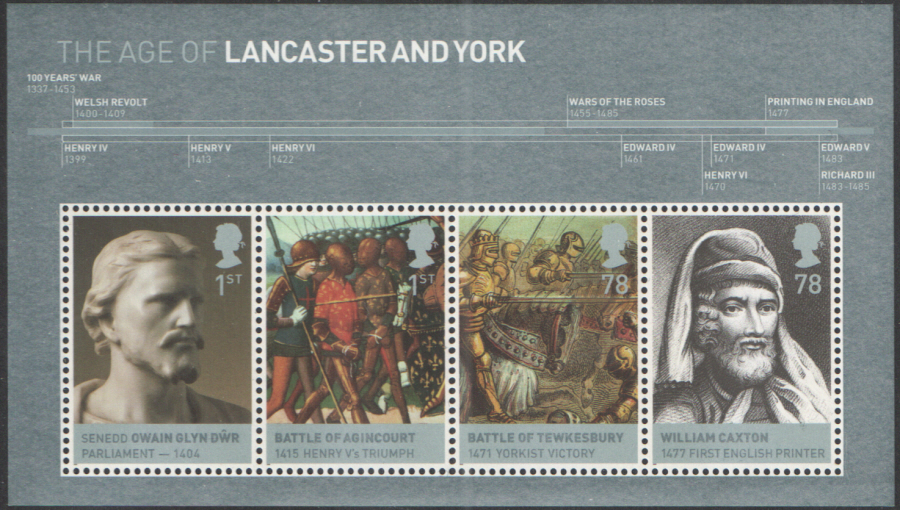 MS2818 2008 House of Lancaster & York Royal Mail Miniature Sheet