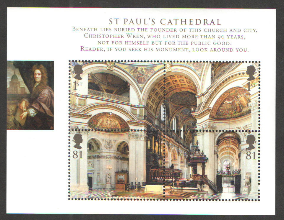 MS2847 2008 St Paul's Cathedral Royal Mail Miniature Sheet