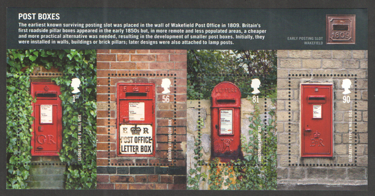 MS2954 2009 Post Boxes Royal Mail Miniature Sheet