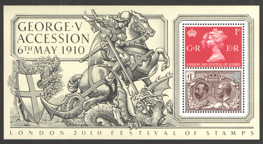 MS3065 2010 George V Accession Royal Mail Miniature Sheet