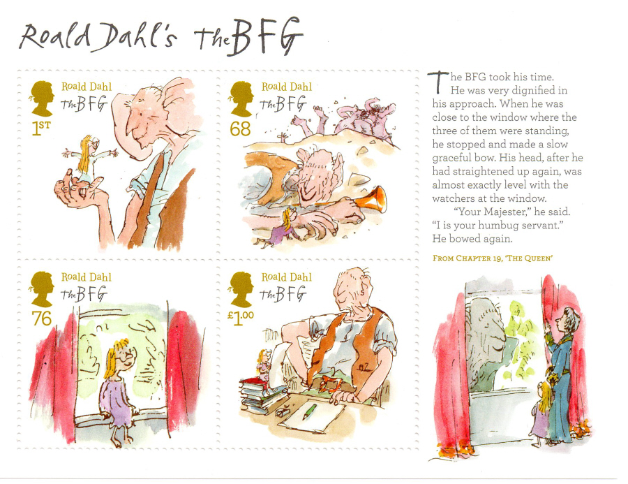 MS3264 2012 Roald Dahl Royal Mail Miniature Sheet