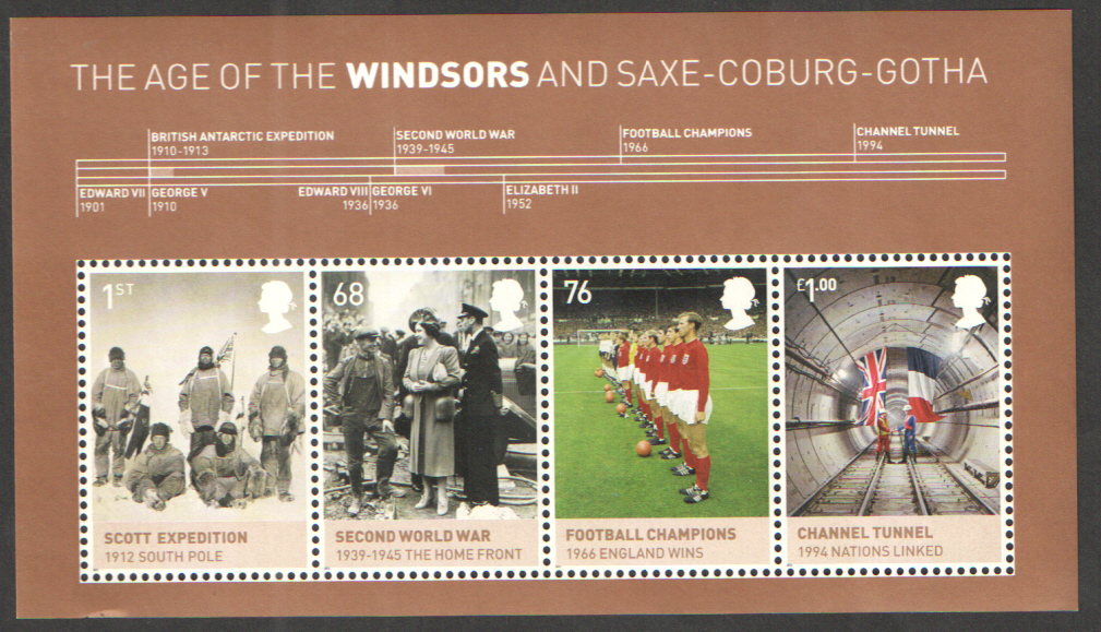 MS3270 2012 Age of the Windsors Royal Mail Miniature Sheet