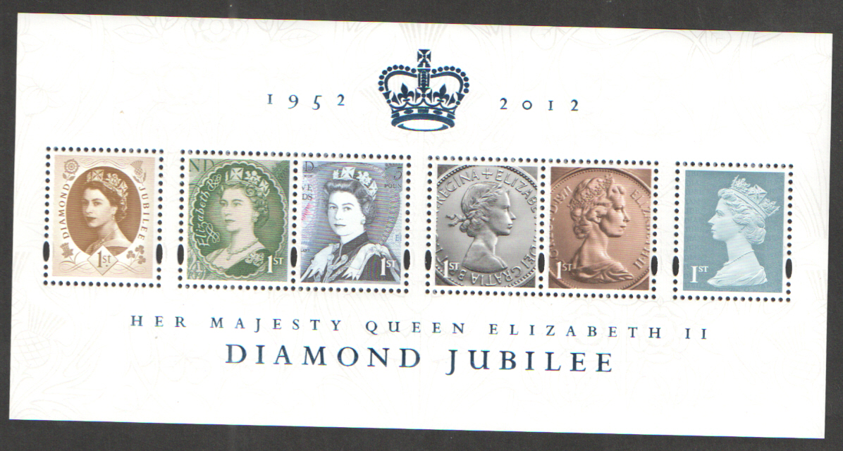 MS3272 2012 Diamond Jubilee Royal Mail Miniature Sheet