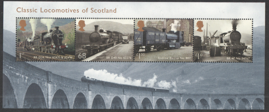 MS3283 2012 Classic Locomotives of Scotland Royal Mail Miniature Sheet