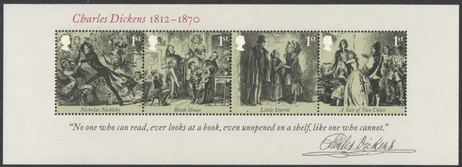 MS3336 2012 Charles Dickens Royal Mail Miniature Sheet