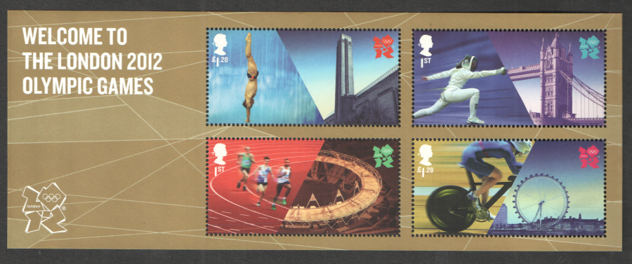 MS3341 Welcome to London 2012 Olympic Games Royal Mail Miniature Sheet