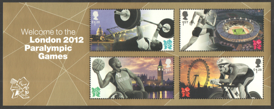 MS3371 Welcome to London 2012 Paralympic Games Royal Mail Miniature Sheet