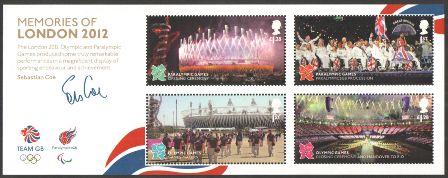 MS3406 Memories of London 2012 Olympic & Paralympic Games Miniature Sheet
