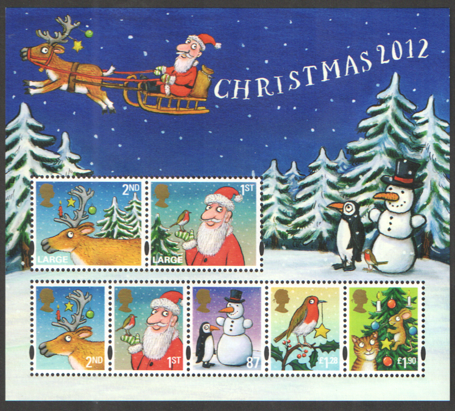 MS3422 2012 Christmas Royal Mail Miniature Sheet