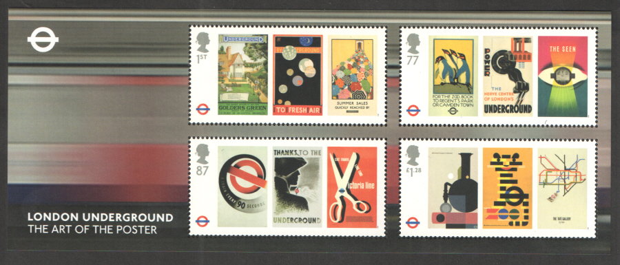 MS3429 2013 London Underground Royal Mail Miniature Sheet