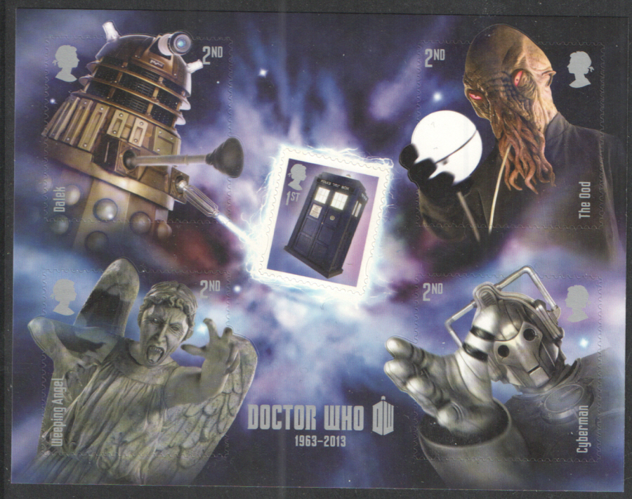 MS3451 2013 Doctor Who Royal Mail Miniature Sheet
