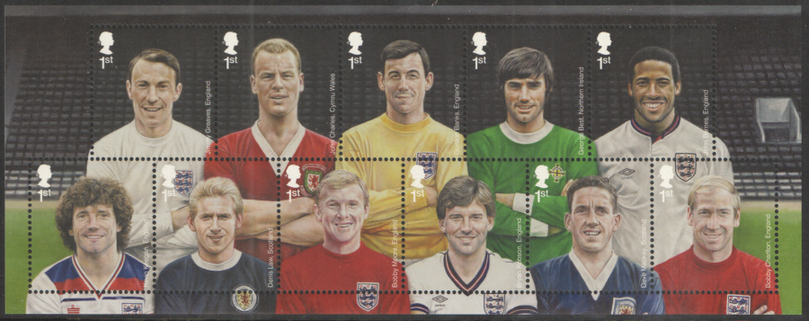MS3474 2013 Football Heroes Royal Mail Miniature Sheet