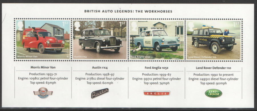 MS3518 2013 British Auto Legends Royal Mail Miniature Sheet
