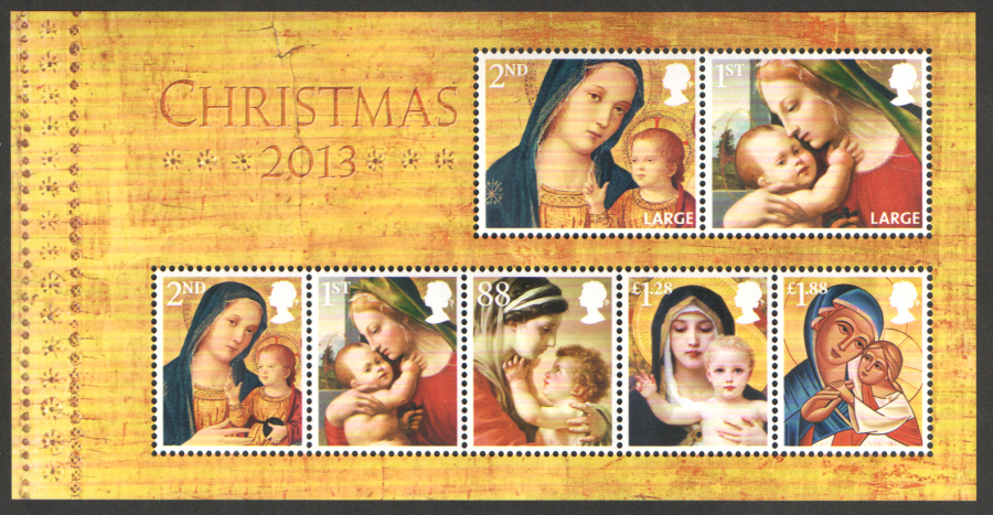 MS3549 2013 Christmas Royal Mail Miniature Sheet