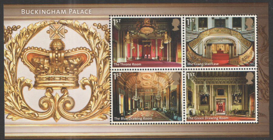 MS3601 2014 Buckingham Palace Non-Barcoded Royal Mail Miniature Sheet