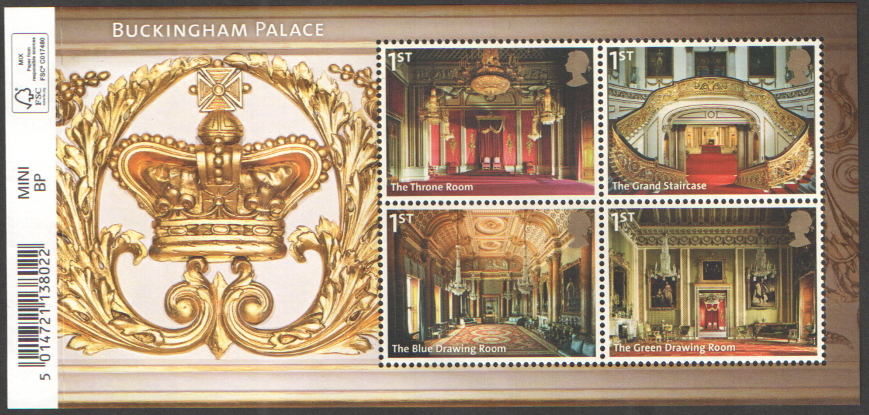 MS3601 2014 Buckingham Palace Barcoded Royal Mail Miniature Sheet