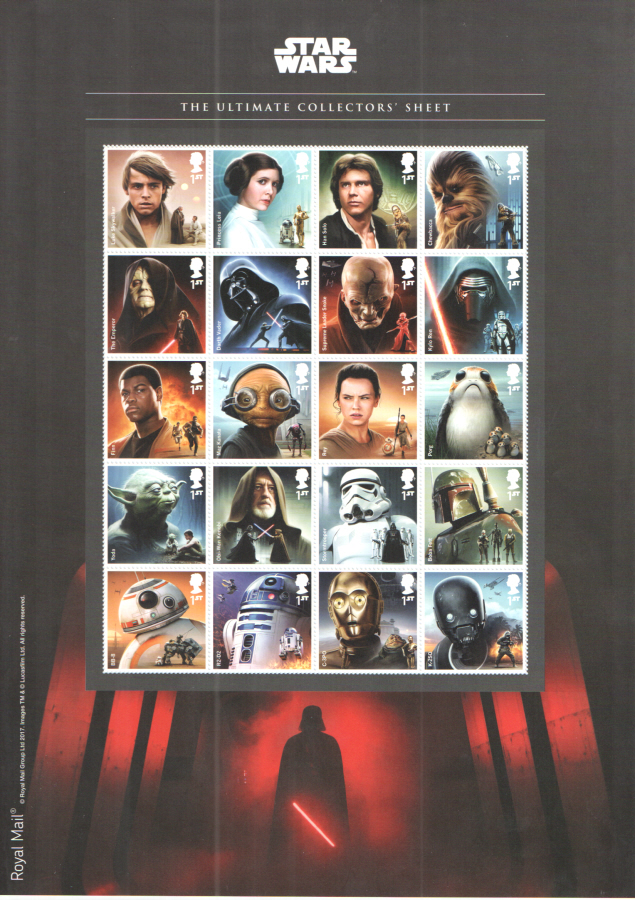 MS4014a 2017 Star Wars Ultimate Collector's Sheet Miniature Sheet