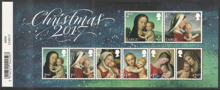 MS4027 2017 Christmas Barcoded Miniature Sheet
