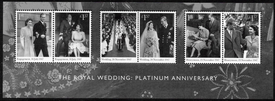 MS4032 2017 Royal Platinum Anniversary Barcoded Miniature Sheet