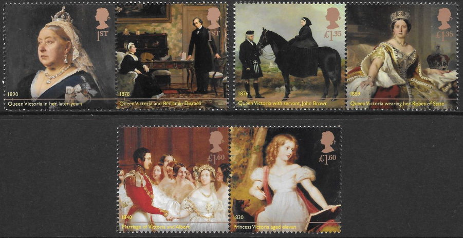 SG(TBC) 2019 Queen Victoria Bicentenary unmounted mint set of 6