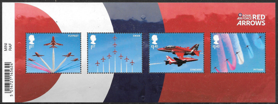 MS (TBC) 2018 Red Arrows Barcoded Miniature Sheet