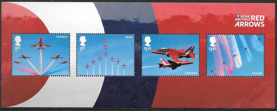 MS (TBC) 2018 Red Arrows Non-Barcoded Miniature Sheet