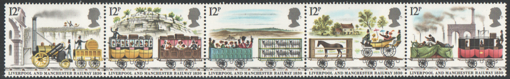 SG1113 / 17 1980 Liverpool & Manchester Railway unmounted mint set of 5