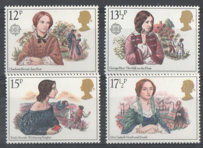 SG1125 / 28 1980 Famous Authoresses unmounted mint set of 4