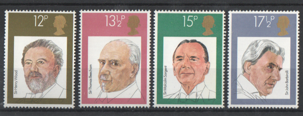 SG1130 / 33 1980 Famous Conductors unmounted mint set of 4