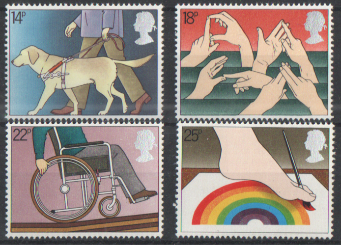 SG1147 / 50 1981 Year Of The Disabled unmounted mint set of 4
