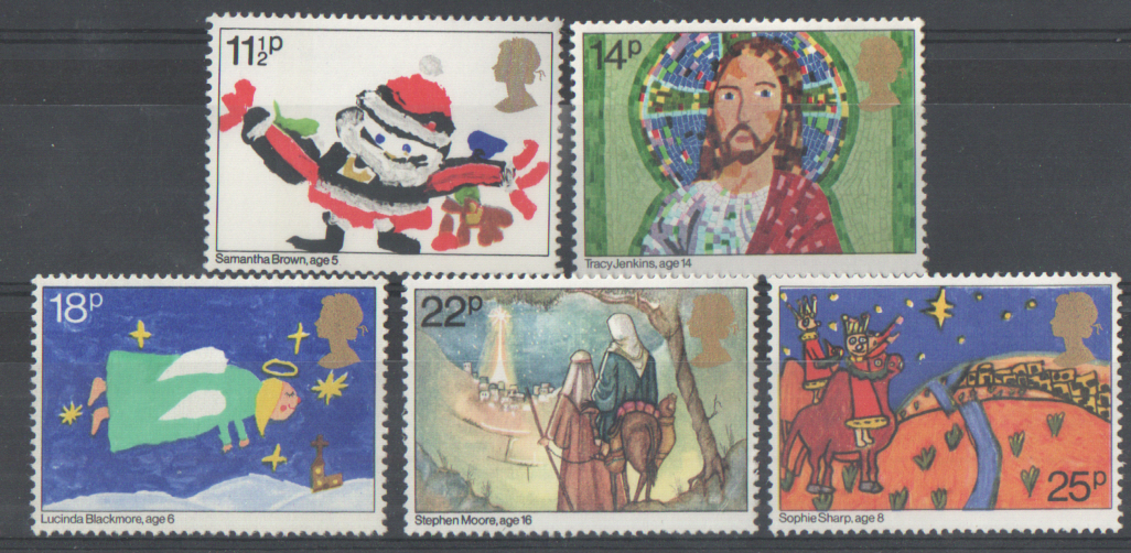 SG1170 / 74 1981 Christmas unmounted mint set of 5