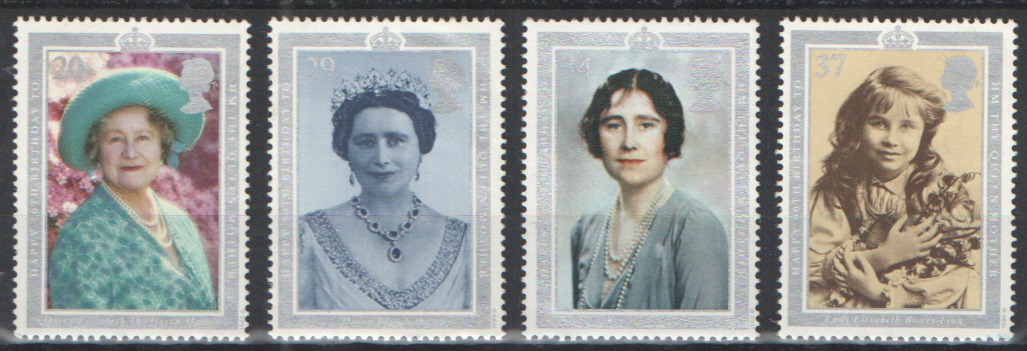 SG1507 / 10 1990 Queen Mother 90th Birthday unmounted mint set of 4