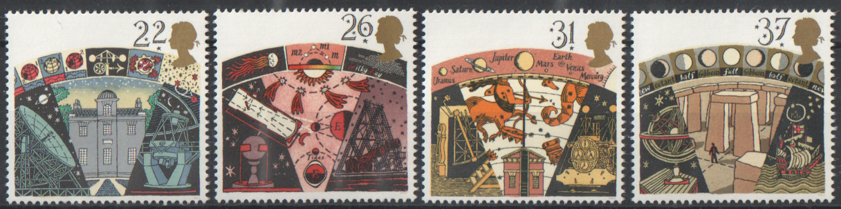 SG1522 / 25 1990 Astronomy unmounted mint set of 4
