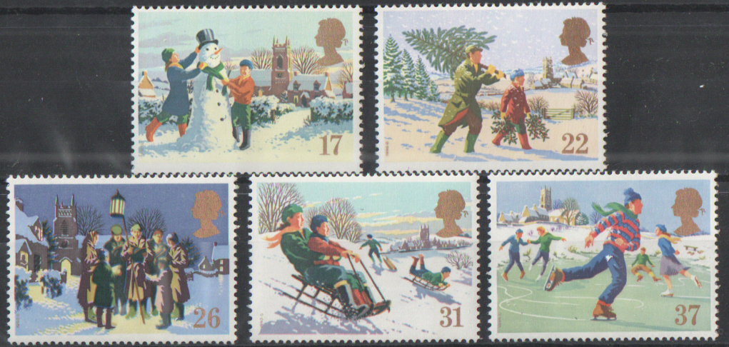 SG1526 / 30 1990 Christmas unmounted mint set of 5