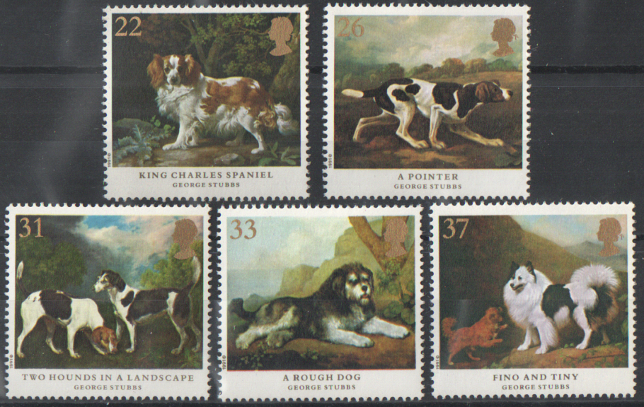 SG1531 / 35 1991 Dogs unmounted mint set of 5