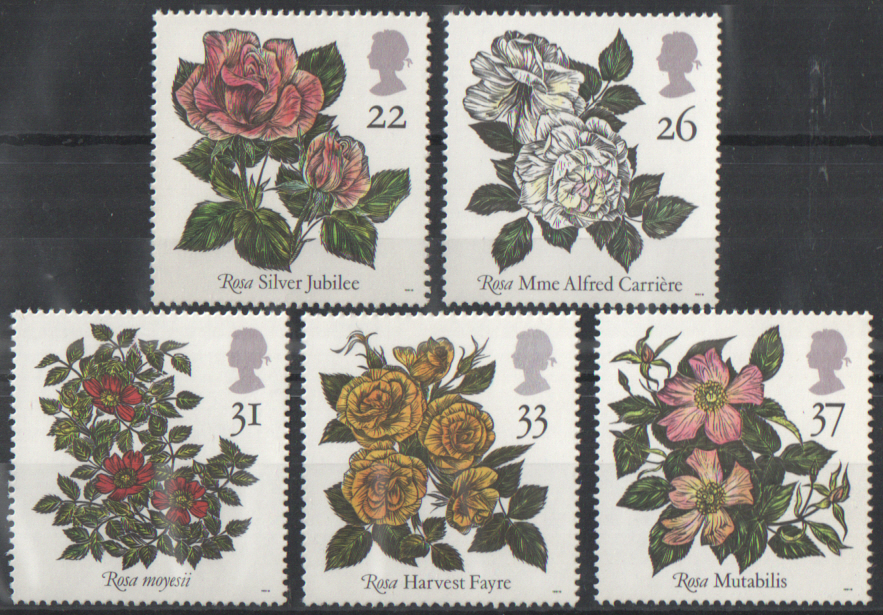SG1568 / 72 1991 Roses unmounted mint set of 5