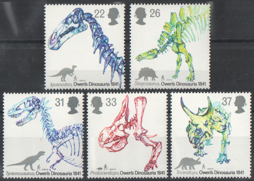 SG1573 / 77 1991 Dinosaurs unmounted mint set of 5