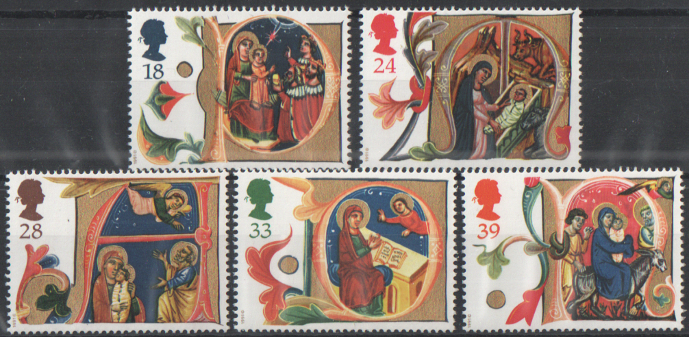 SG1582 / 86 1991 Christmas unmounted mint set of 5