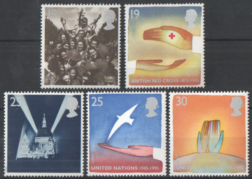 SG1873 / 77 1995 Peace & Freedom unmounted mint set of 5