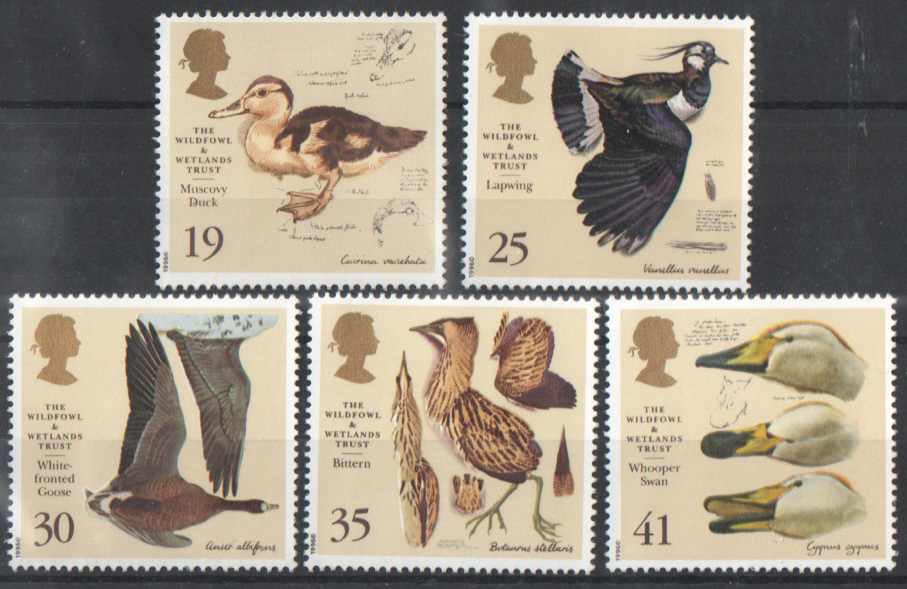 SG1915 / 19 1996 Wildfowl & Wetlands Trust unmounted mint set of 5